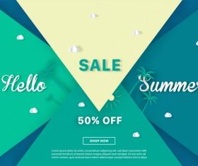 special offer summer sale background vector 07