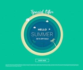 special offer summer sale background vector 08
