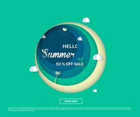 special offer summer sale background vector 09