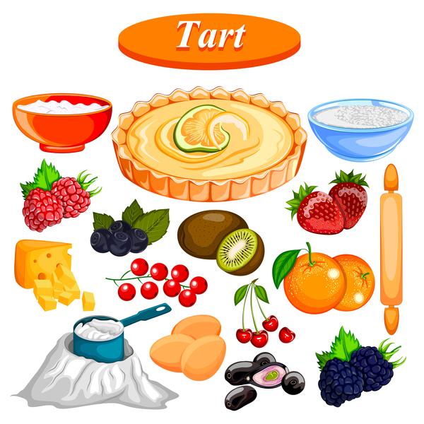 tart food vector design