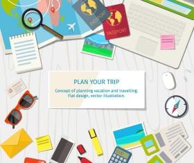 travel plan business template vector
