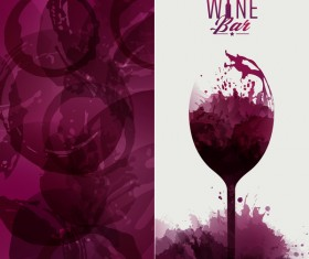 wine red circles stains invitation leaflet background vector