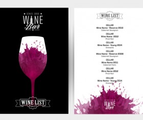 wine red stains invitation bar background vector
