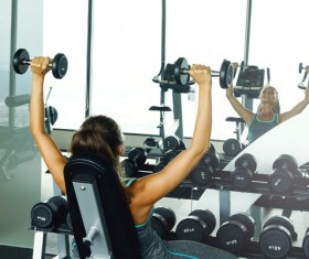 woman exercising in the gym HD picture 03