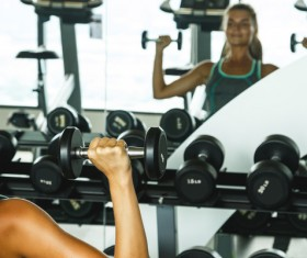 woman exercising in the gym HD picture 04