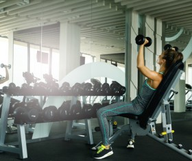 woman exercising in the gym HD picture 05