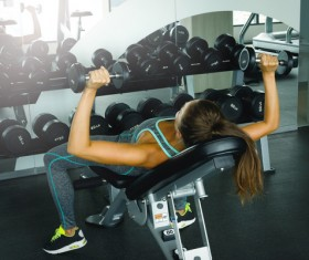 woman exercising in the gym HD picture 06