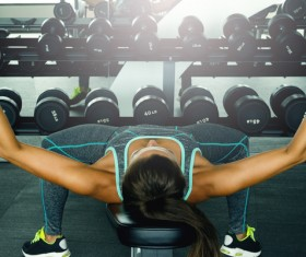 woman exercising in the gym HD picture 07