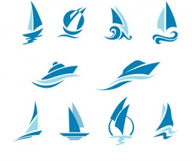 yacht sailing logos vector