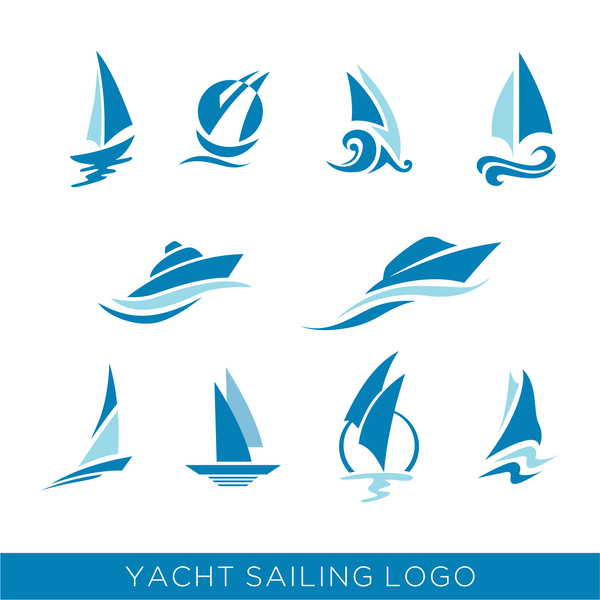yacht sailing logos vector vector logo free download