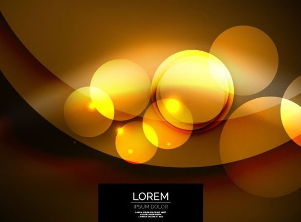 yellow circles with shining background vector 02
