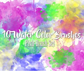 10 kind watercolor photoshop brushes
