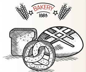 1983 Bakery retro vector 01