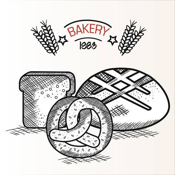 1983 Bakery retro vector 01