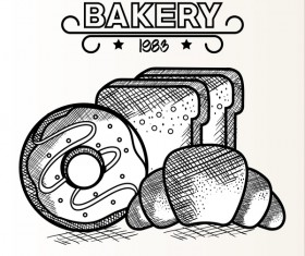 1983 Bakery retro vector 02
