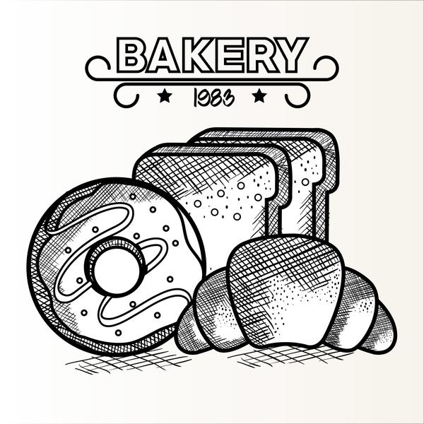 1983 Bakery retro vector 02
