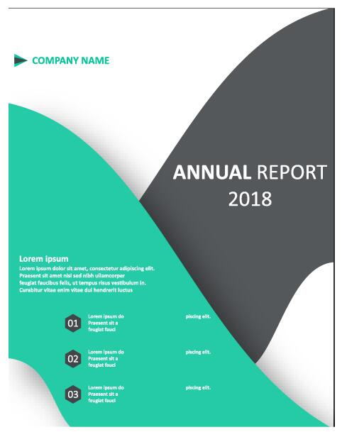 2018 Annual poster template vector 01