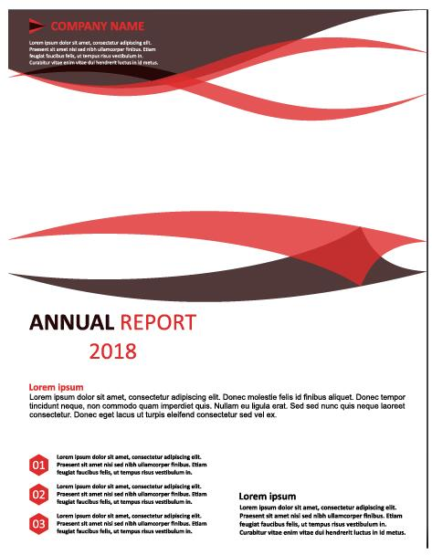 2018 Annual poster template vector 05