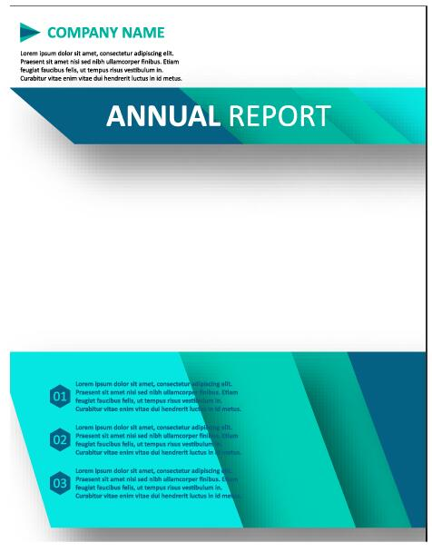 2018 Annual poster template vector 07