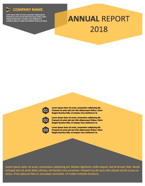2018 Annual poster template vector 09