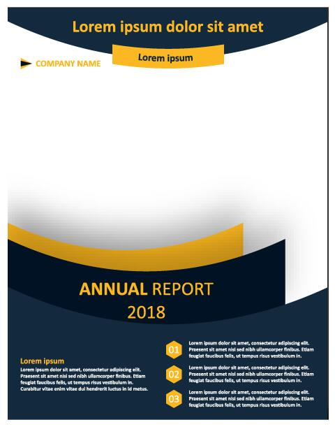 2018 Annual poster template vector 10
