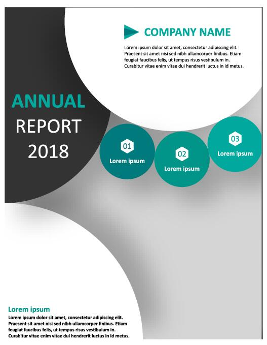2018 Annual poster template vector 11