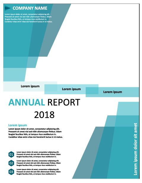 2018 Annual poster template vector 12
