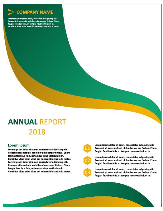 2018 Annual poster template vector 14