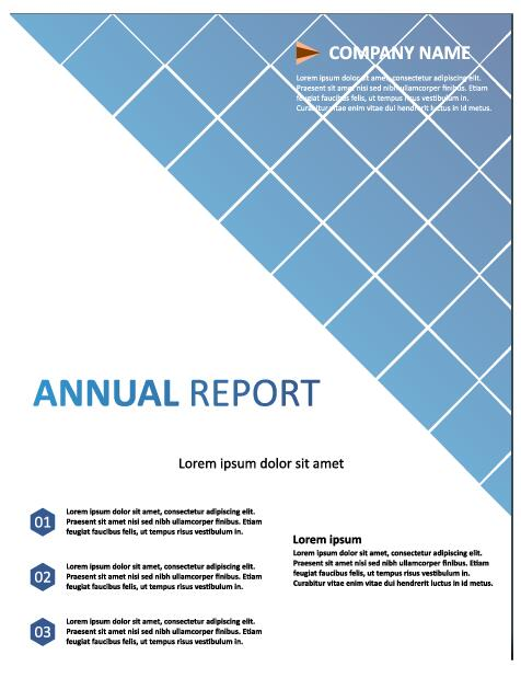 2018 Annual poster template vector 18