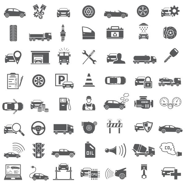 56 Auto service icons vector