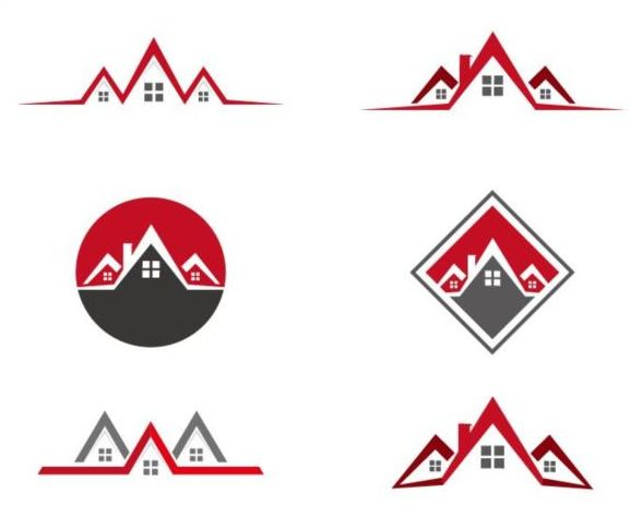 6 Real estate logo vector