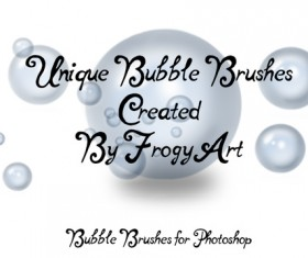 9 Kind Bubble photoshop brushe