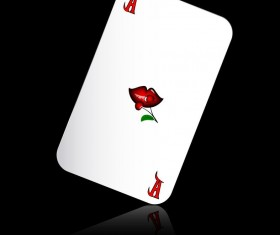 A playing cards with black background vector 01