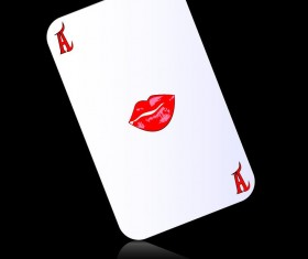A playing cards with black background vector 03