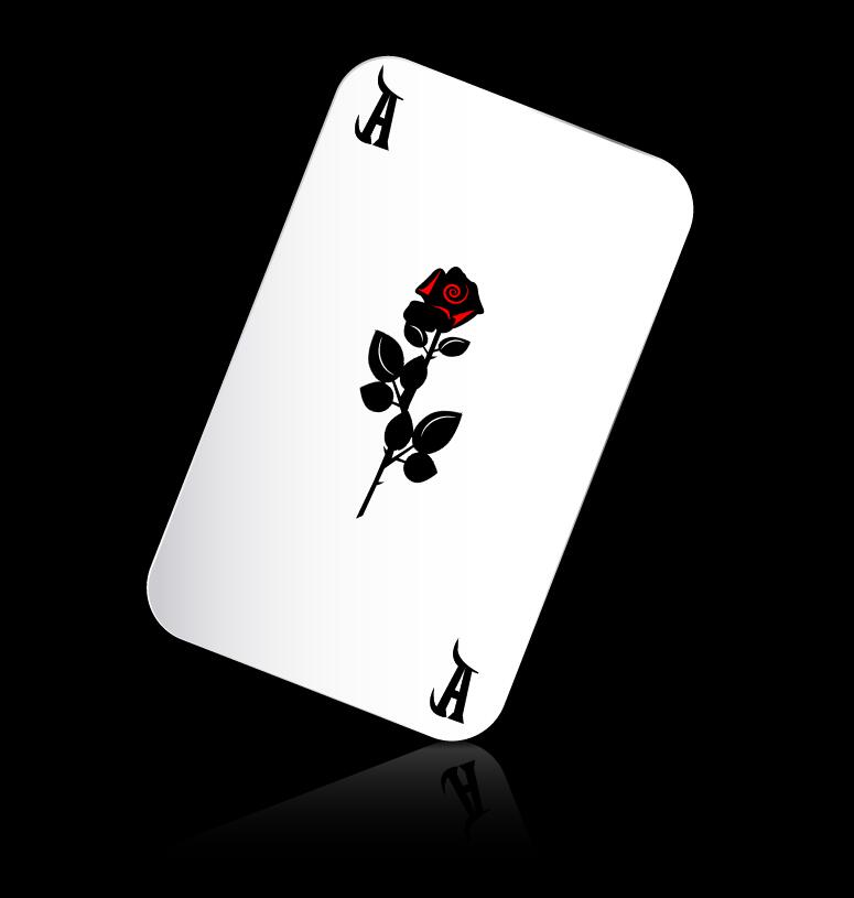 A playing cards with black background vector 04