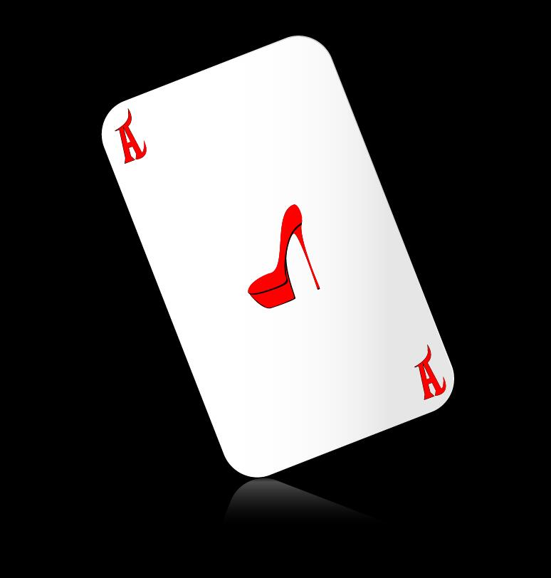 A playing cards with black background vector 05