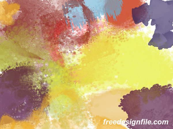 Abstract Watercolor Photoshop Brushes