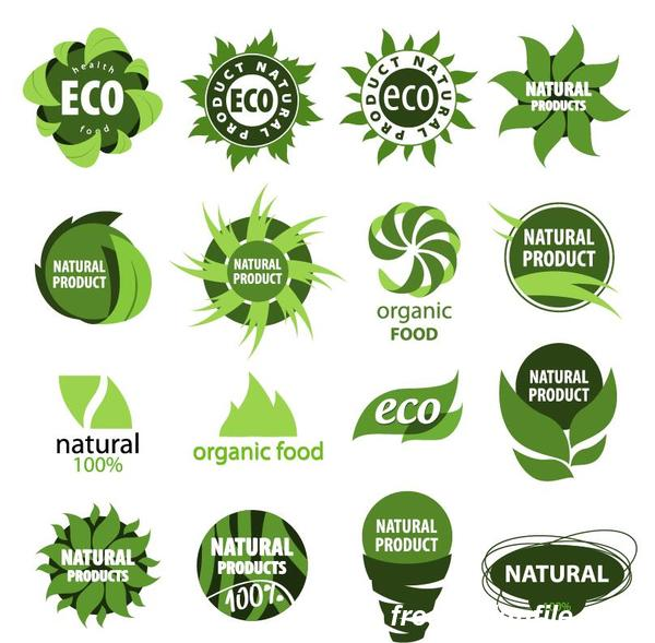 Abstract eco logos design vector