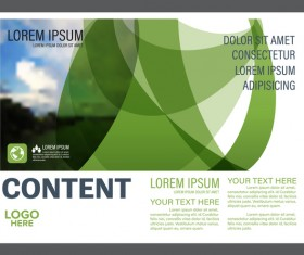 Abstract green styles flyer with brochure cover template vector 01