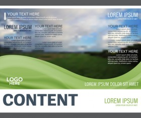 Abstract green styles flyer with brochure cover template vector 04