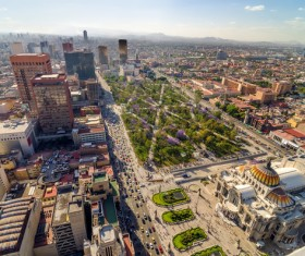 Aerial photography in Mexico Stock Photo