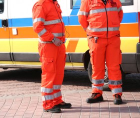 Ambulance and first aid Stock Photo 02
