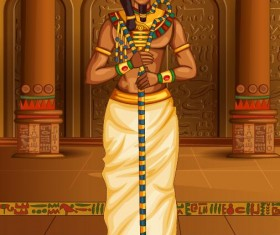 Ancient egyptian styles vector material 18