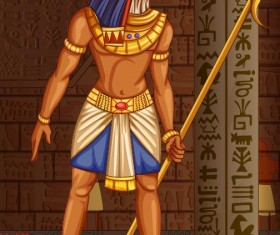 Ancient egyptian styles vector material 19