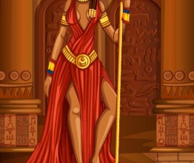 Ancient egyptian styles vector material 21