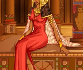 Ancient egyptian styles vector material 22