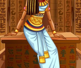 Ancient egyptian styles vector material 23
