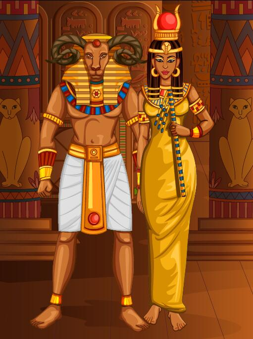 Ancient Egyptian Styles Vector Material 24 Free Download