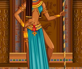 Ancient egyptian styles vector material 25