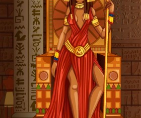 Ancient egyptian styles vector material 26